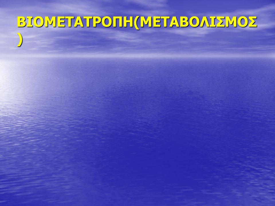 ΒΙΟΜΕΤΑΤΡΟΠΗ(ΜΕΤΑΒΟΛΙΣΜΟΣ)