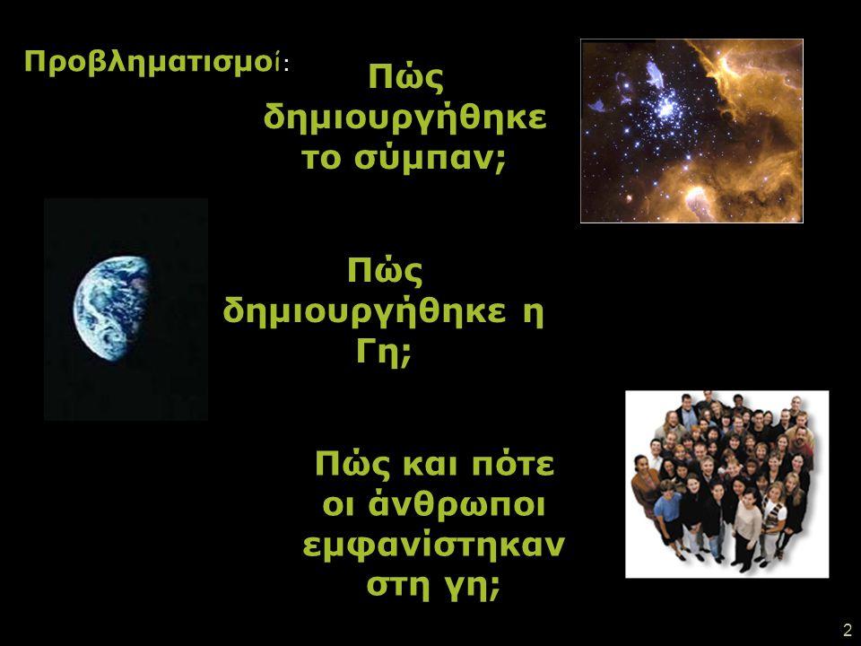 Πώς δημιουργήθηκε το σύμπαν;