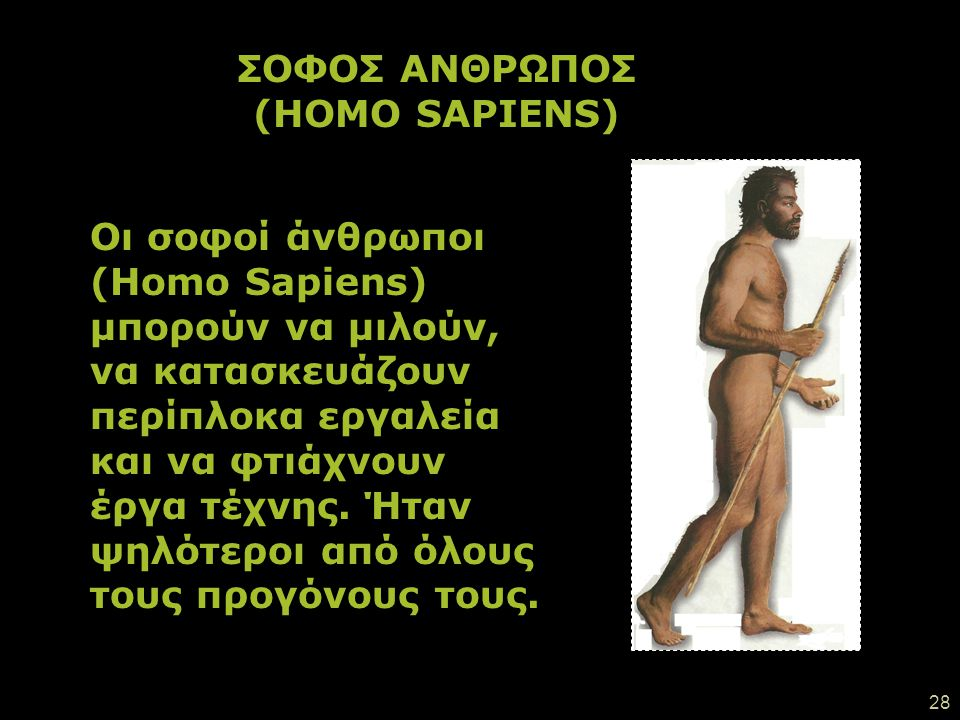 ΣΟΦΟΣ ΑΝΘΡΩΠΟΣ (HOMO SAPIENS)