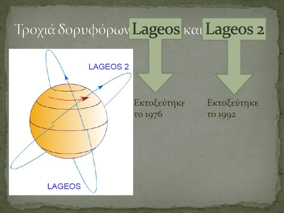 Τροχιά δορυφόρων Lageos και Lageos 2