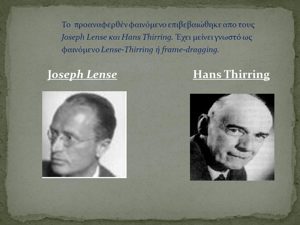 Joseph Lense Hans Thirring