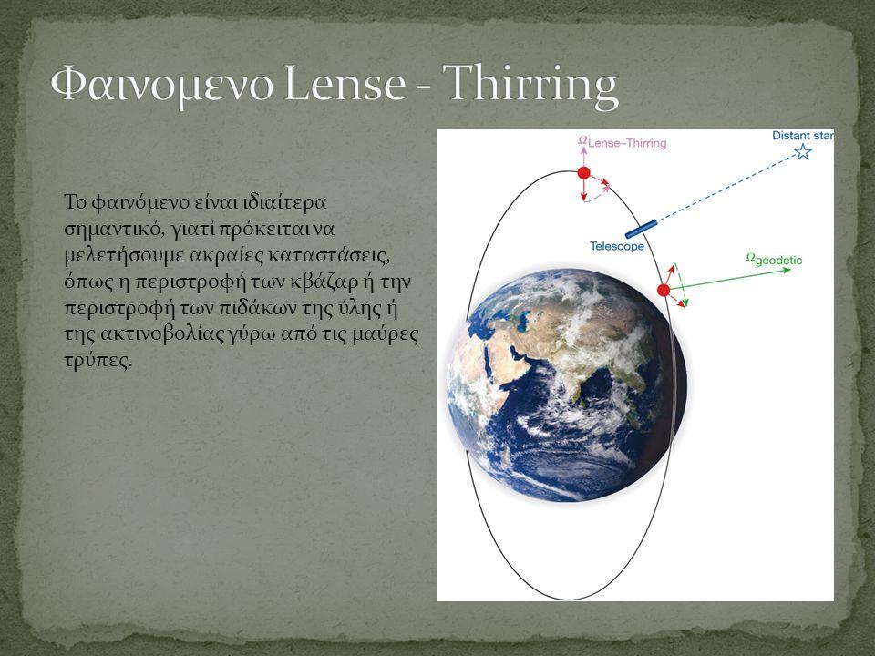 Φαινομενο Lense - Thirring