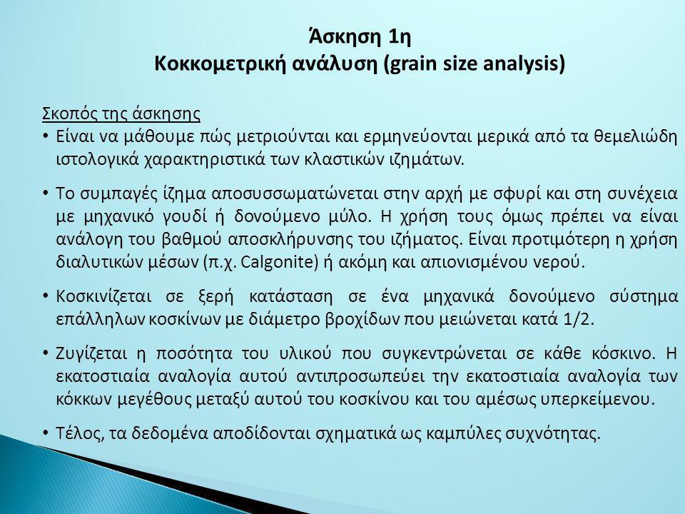 Κoκκoμετρική αvάλυση (grain size analysis)
