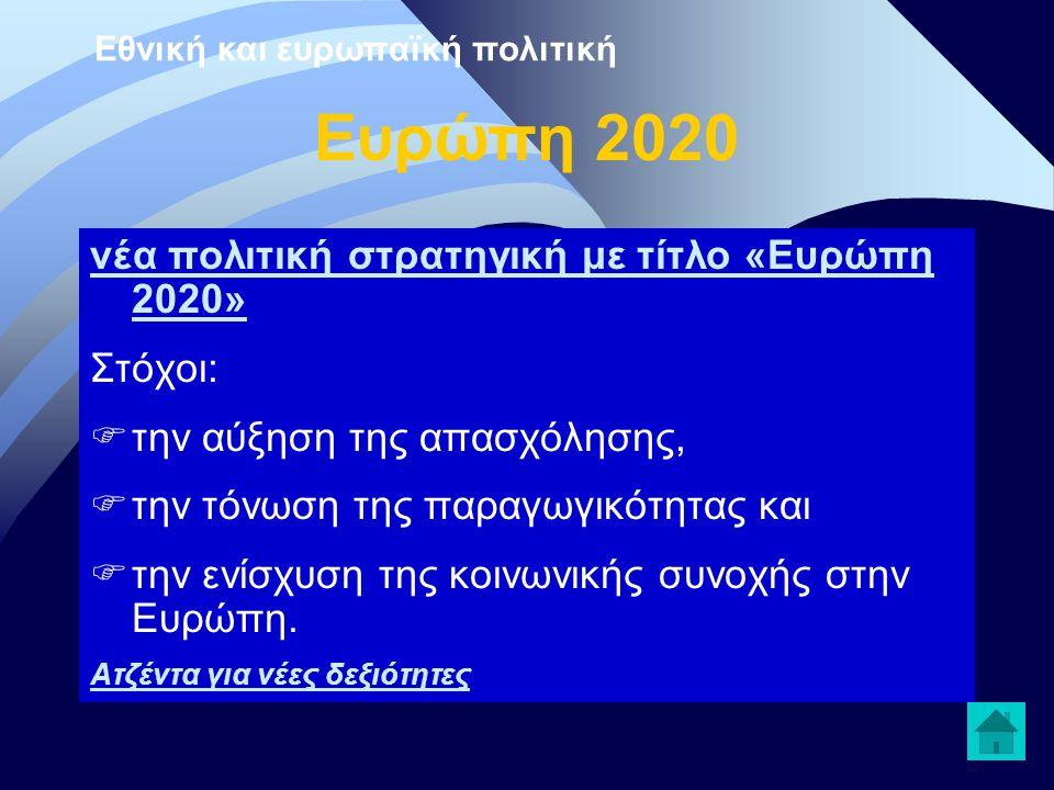 Εθνική και ευρωπαϊκή πολιτική