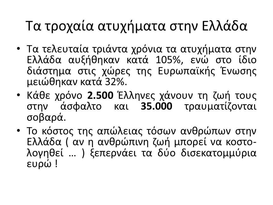 Τα τροχαία ατυχήματα στην Ελλάδα
