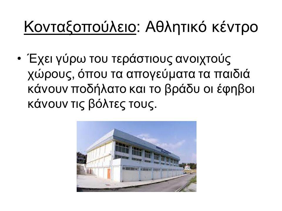 Κονταξοπούλειο: Αθλητικό κέντρο