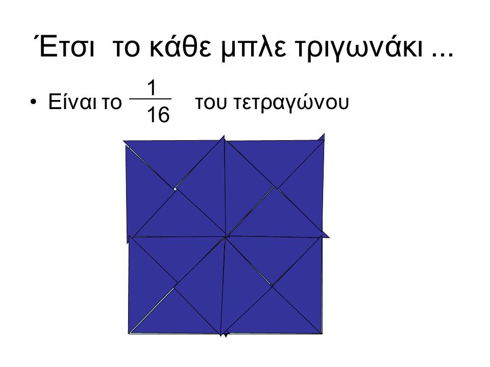 Έτσι το κάθε μπλε τριγωνάκι ...