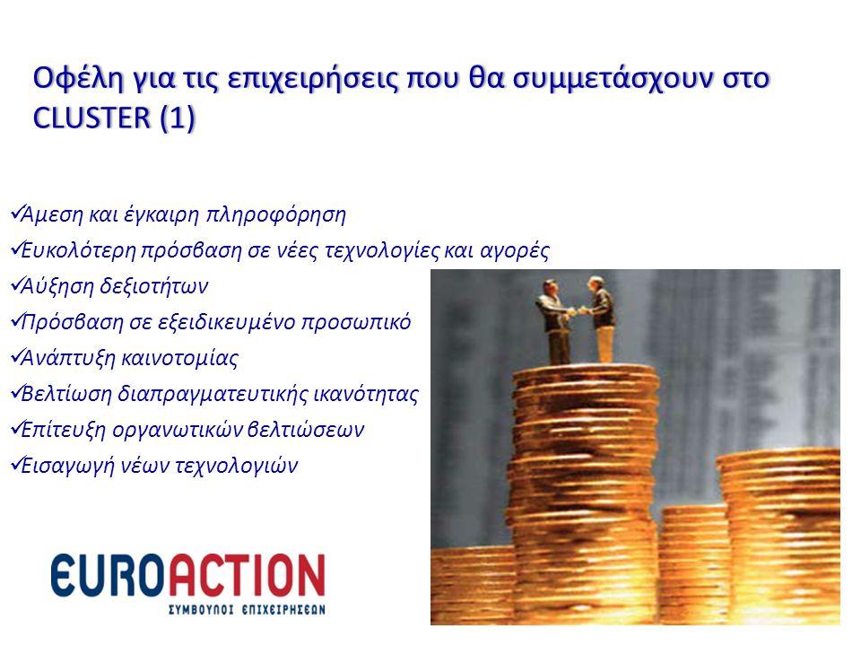 Οφέλη για τις επιχειρήσεις που θα συμμετάσχουν στο CLUSTER (1)