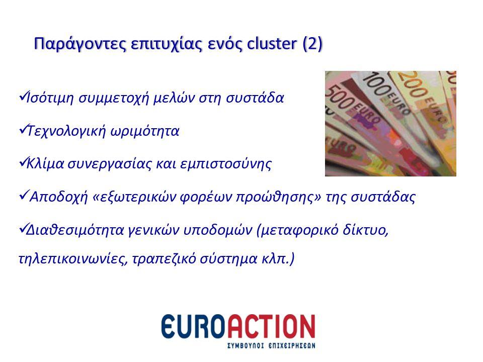 Παράγοντες επιτυχίας ενός cluster (2)