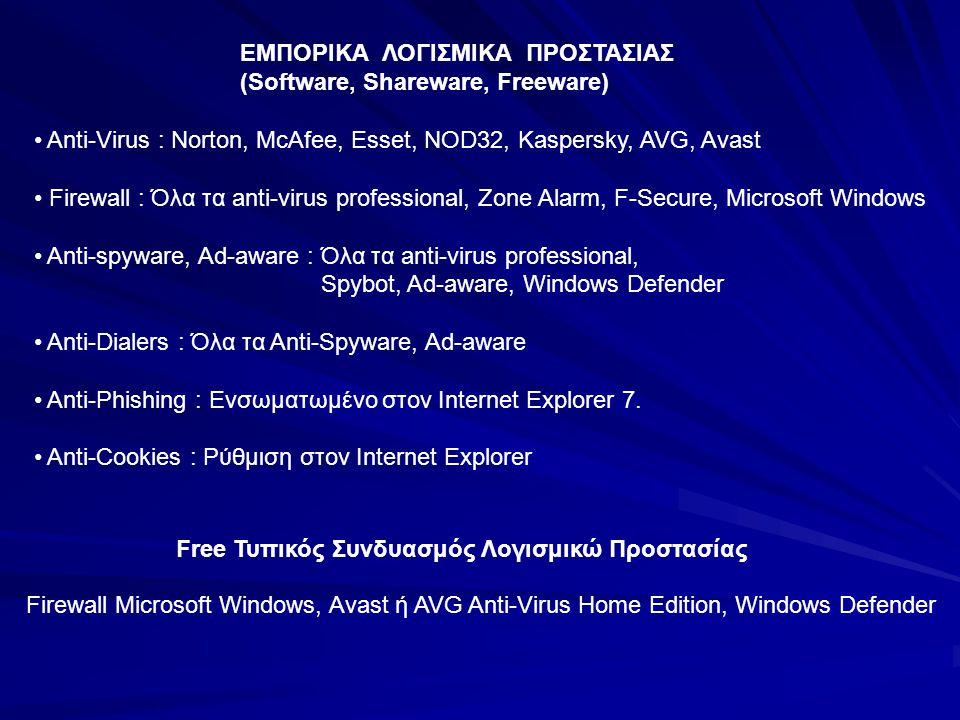 ΕΜΠΟΡΙΚΑ ΛΟΓΙΣΜΙΚΑ ΠΡΟΣΤΑΣΙΑΣ