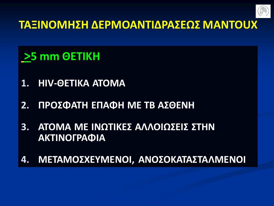 ΤΑΞΙΝΟΜΗΣΗ ΔΕΡΜΟΑΝΤΙΔΡΑΣΕΩΣ MANTOUX