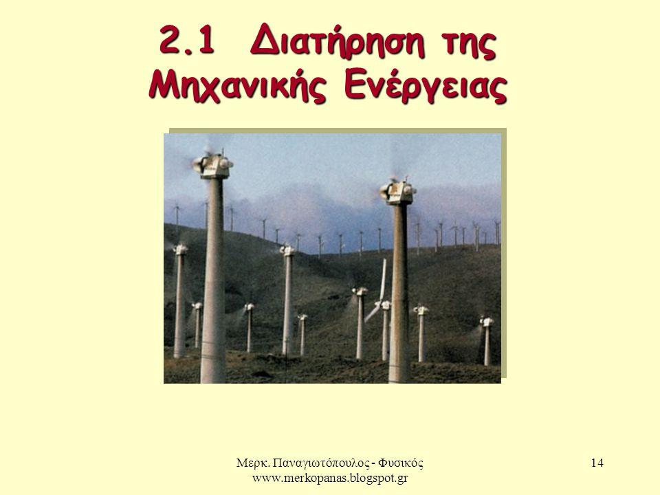 2.1 Διατήρηση της Μηχανικής Ενέργειας