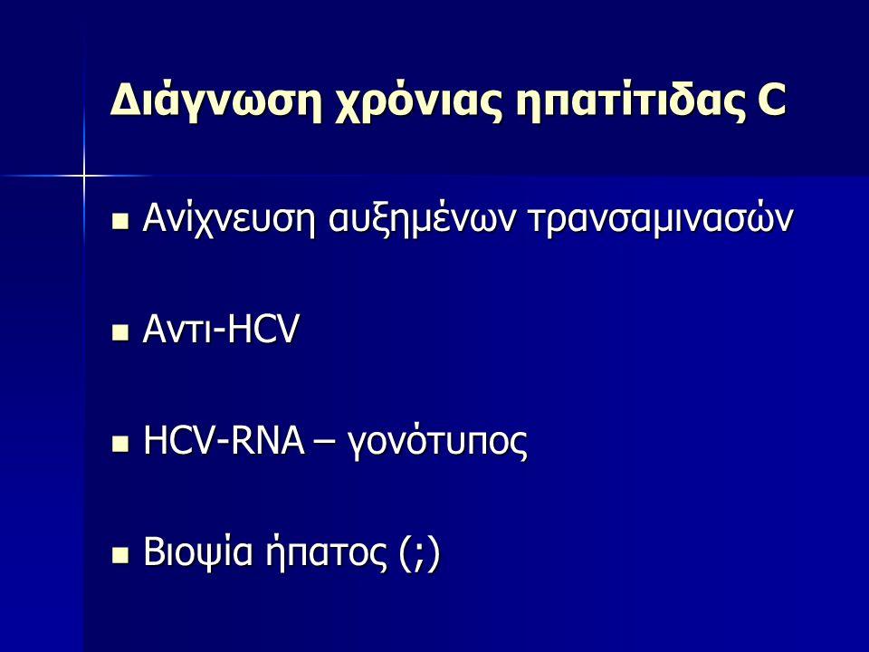 Διάγνωση χρόνιας ηπατίτιδας C