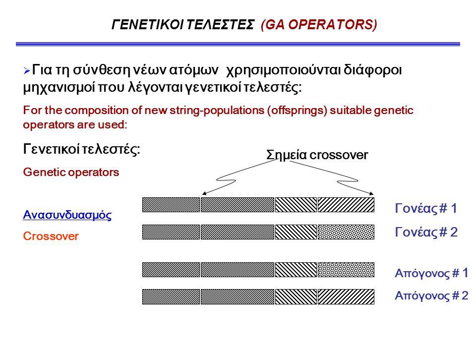 ΓΕΝΕΤΙΚΟΙ ΤΕΛΕΣΤΕΣ (GA OPERATORS)