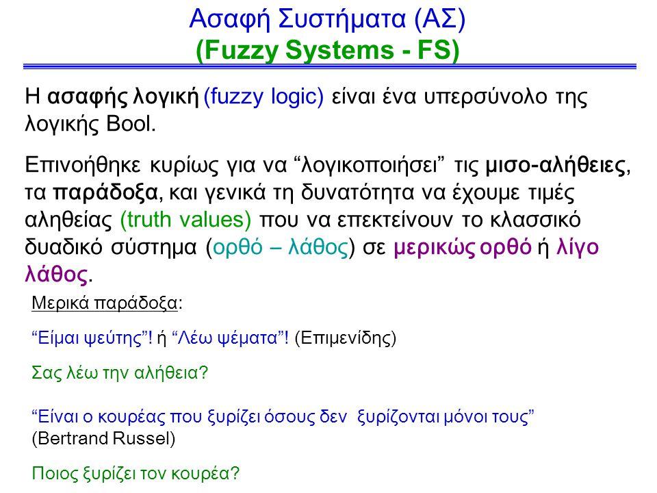 Ασαφή Συστήματα (ΑΣ) (Fuzzy Systems - FS)