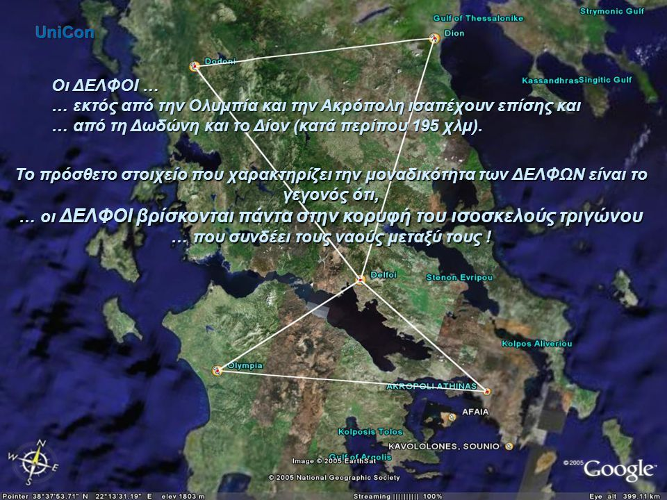 … εκτός από την Ολυμπία και την Ακρόπολη ισαπέχουν επίσης και