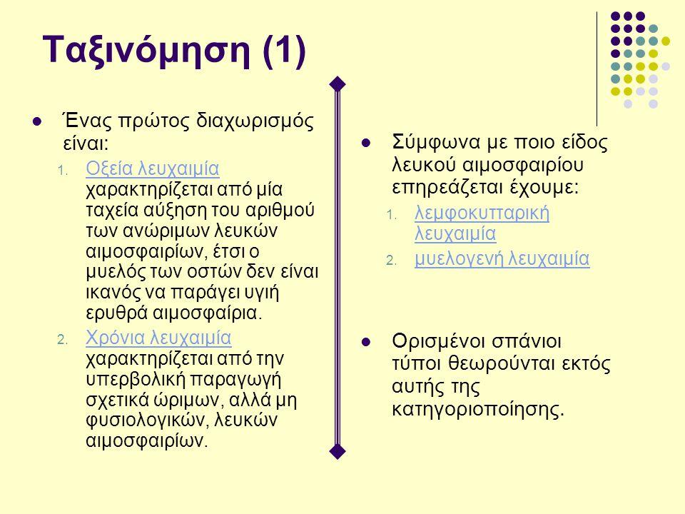 Ταξινόμηση (1) Ένας πρώτος διαχωρισμός είναι: