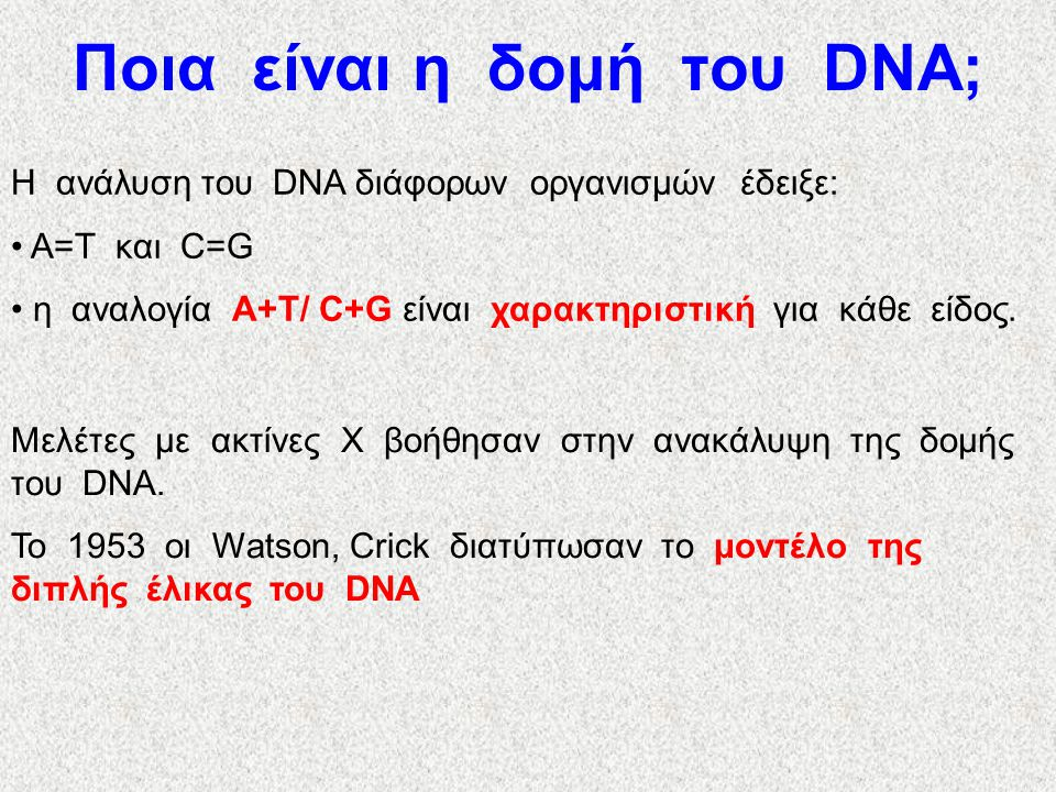 Ποια είναι η δομή του DNA;