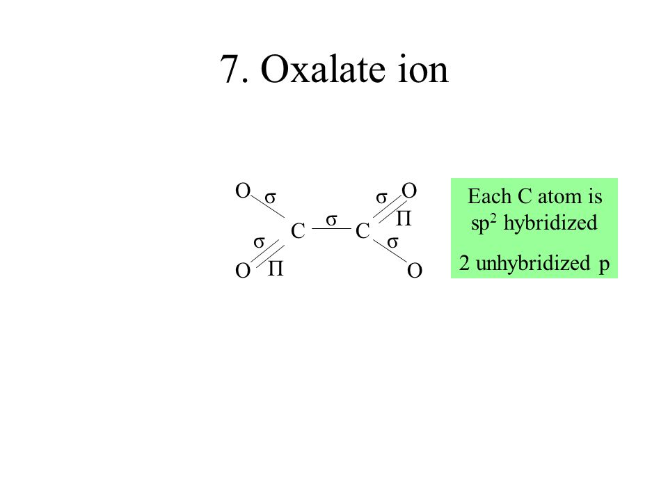 Each C atom is sp2 hybridized