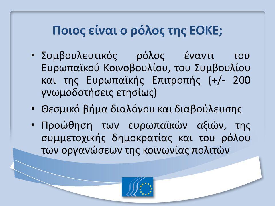Ποιος είναι ο ρόλος της ΕΟΚΕ;
