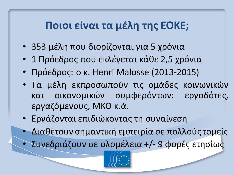Ποιοι είναι τα μέλη της ΕΟΚΕ;