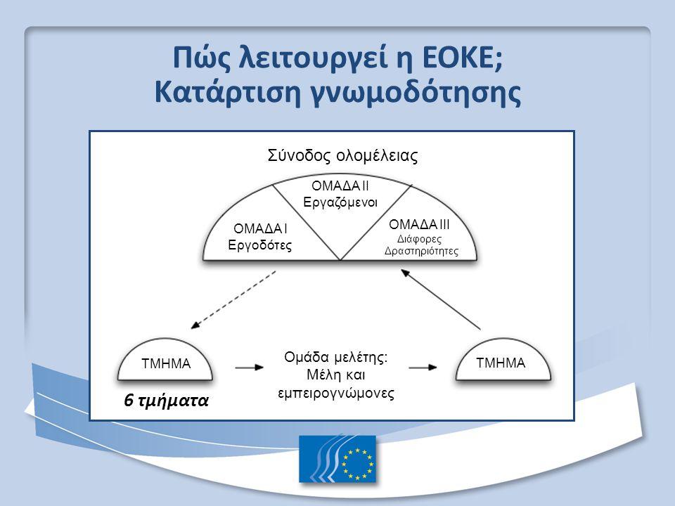 Πώς λειτουργεί η ΕΟΚΕ; Κατάρτιση γνωμοδότησης