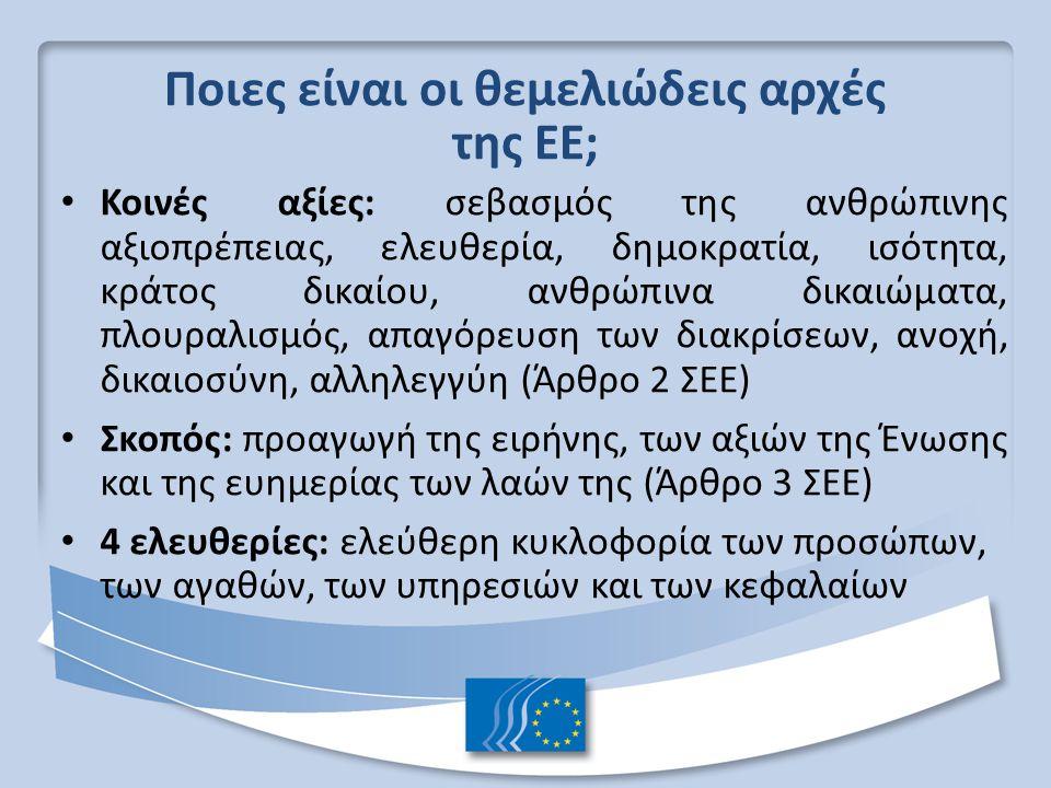 Ποιες είναι οι θεμελιώδεις αρχές της ΕΕ;