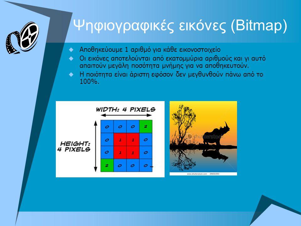 Ψηφιογραφικές εικόνες (Bitmap)