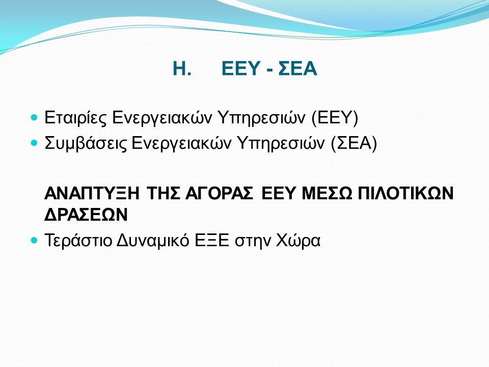 H. ΕΕΥ - ΣΕΑ Εταιρίες Ενεργειακών Υπηρεσιών (ΕΕΥ)