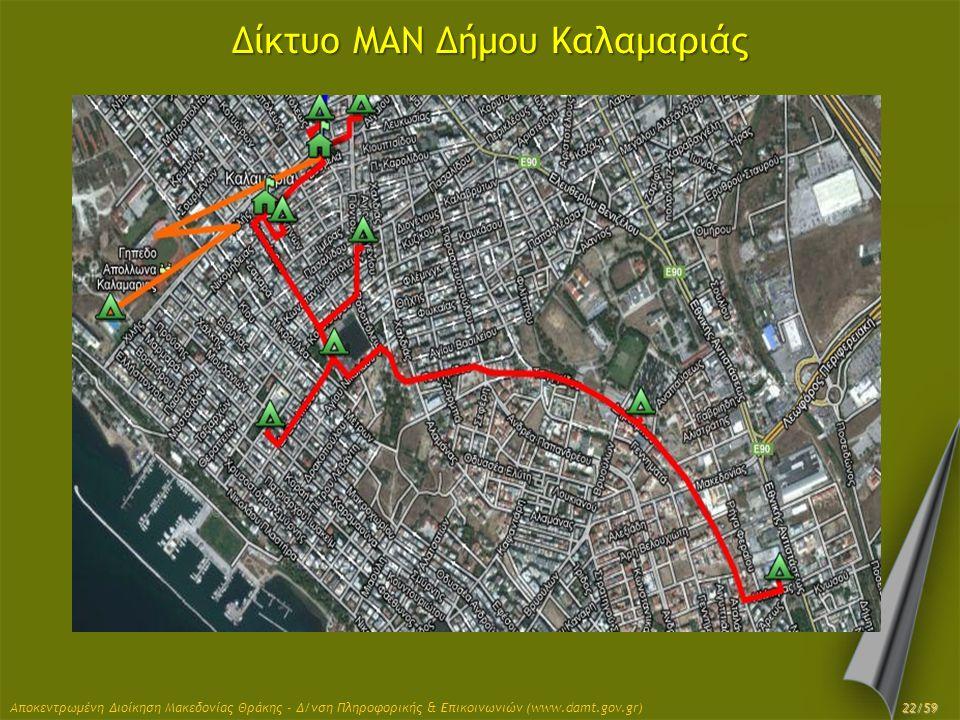 Δίκτυο MAN Δήμου Καλαμαριάς