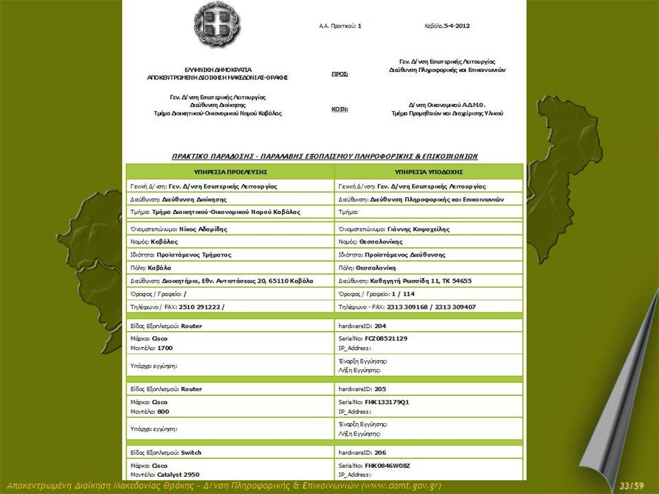 Αποκεντρωμένη Διοίκηση Μακεδονίας Θράκης - Δ/νση Πληροφορικής & Επικοινωνιών (www.damt.gov.gr)