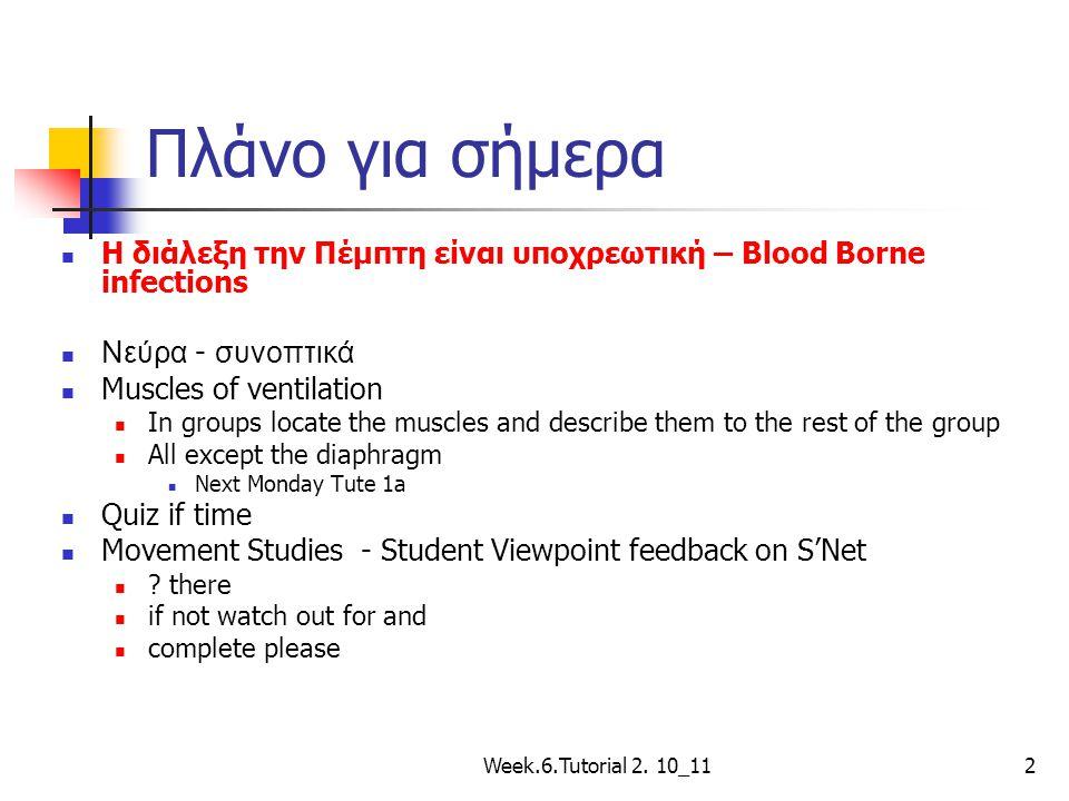 Πλάνο για σήμερα Η διάλεξη την Πέμπτη είναι υποχρεωτική – Blood Borne infections. Νεύρα - συνοπτικά.