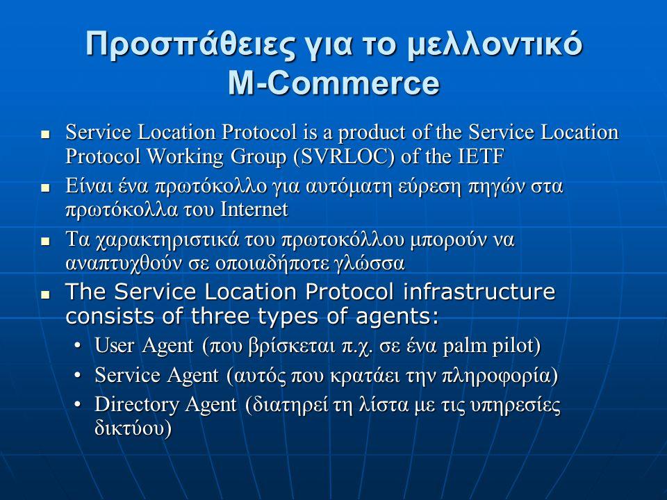 Προσπάθειες για το μελλοντικό Μ-Commerce
