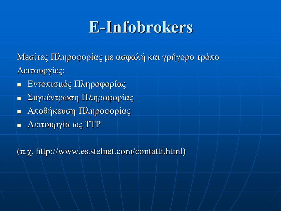 E-Infobrokers Μεσίτες Πληροφορίας με ασφαλή και γρήγορο τρόπο