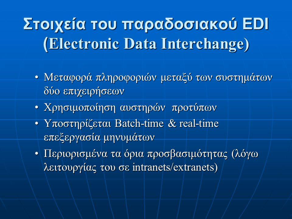 Στοιχεία του παραδοσιακού EDI (Electronic Data Interchange)