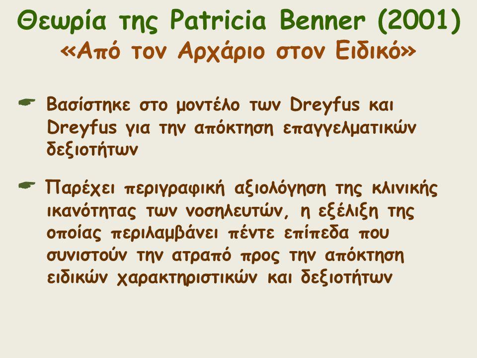 Θεωρία της Patricia Benner (2001) «Από τον Αρχάριο στον Ειδικό»