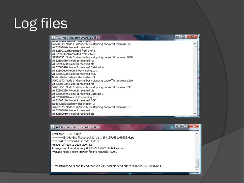 Log files