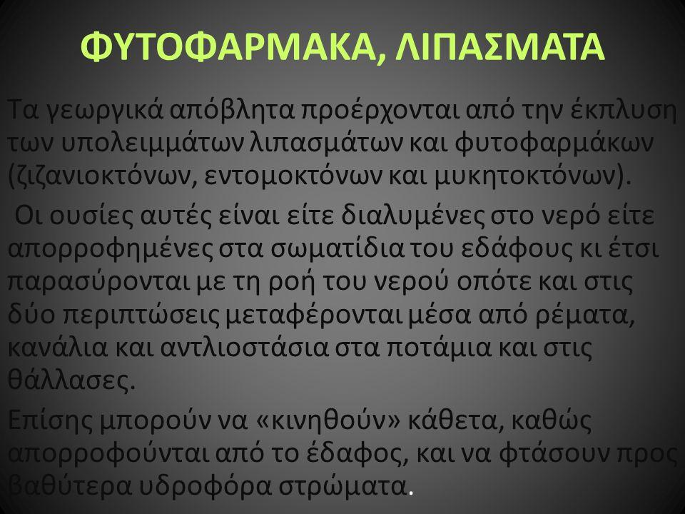 ΦΥΤΟΦΑΡΜΑΚΑ, ΛΙΠΑΣΜΑΤΑ
