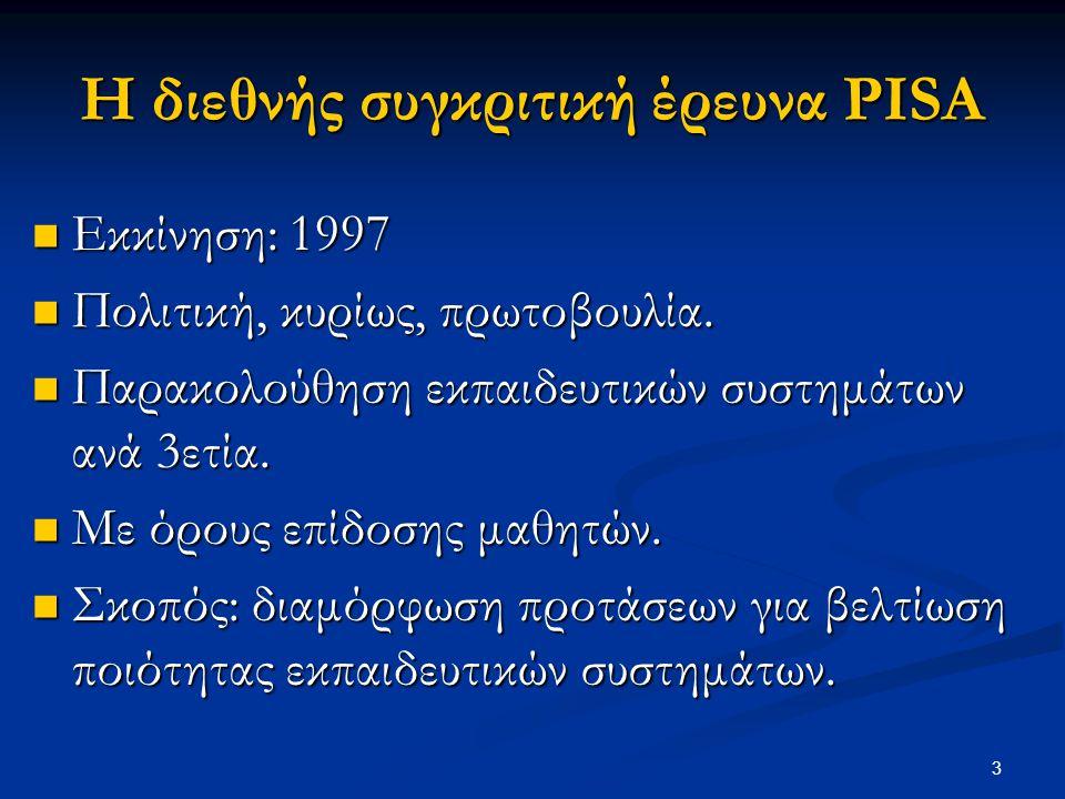 Η διεθνής συγκριτική έρευνα PISA