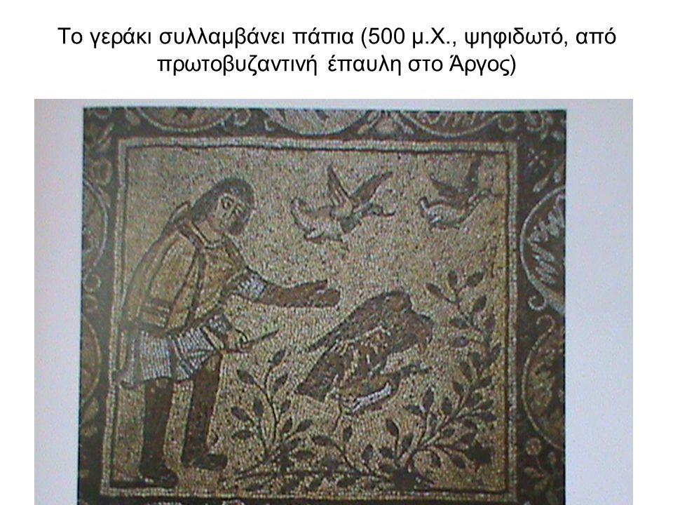 Το γεράκι συλλαμβάνει πάπια (500 μ. Χ