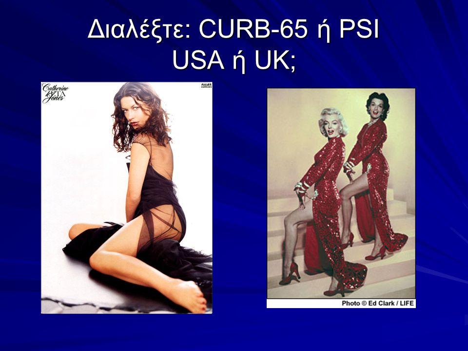 Διαλέξτε: CURB-65 ή PSI USA ή UK;