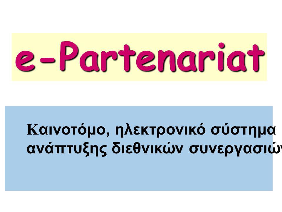 e-Partenariat Kαινοτόμο, ηλεκτρονικό σύστημα