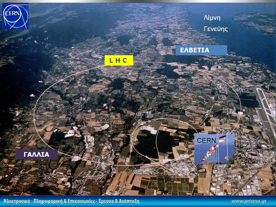 Λίμνη Γενεύης ΕΛΒΕΤΙΑ L H C CERN ΓΑΛΛΙΑ