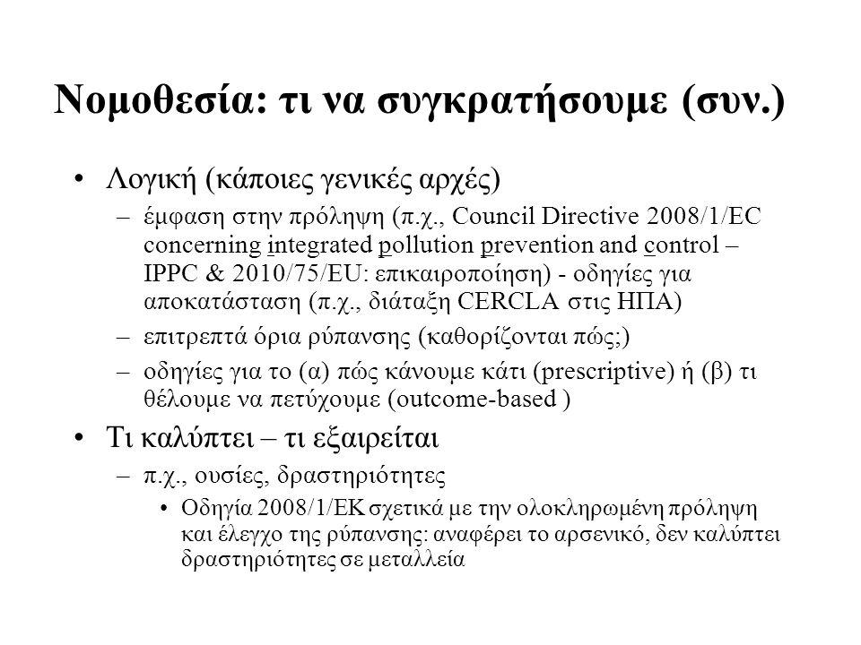 Νομοθεσία: τι να συγκρατήσουμε (συν.)