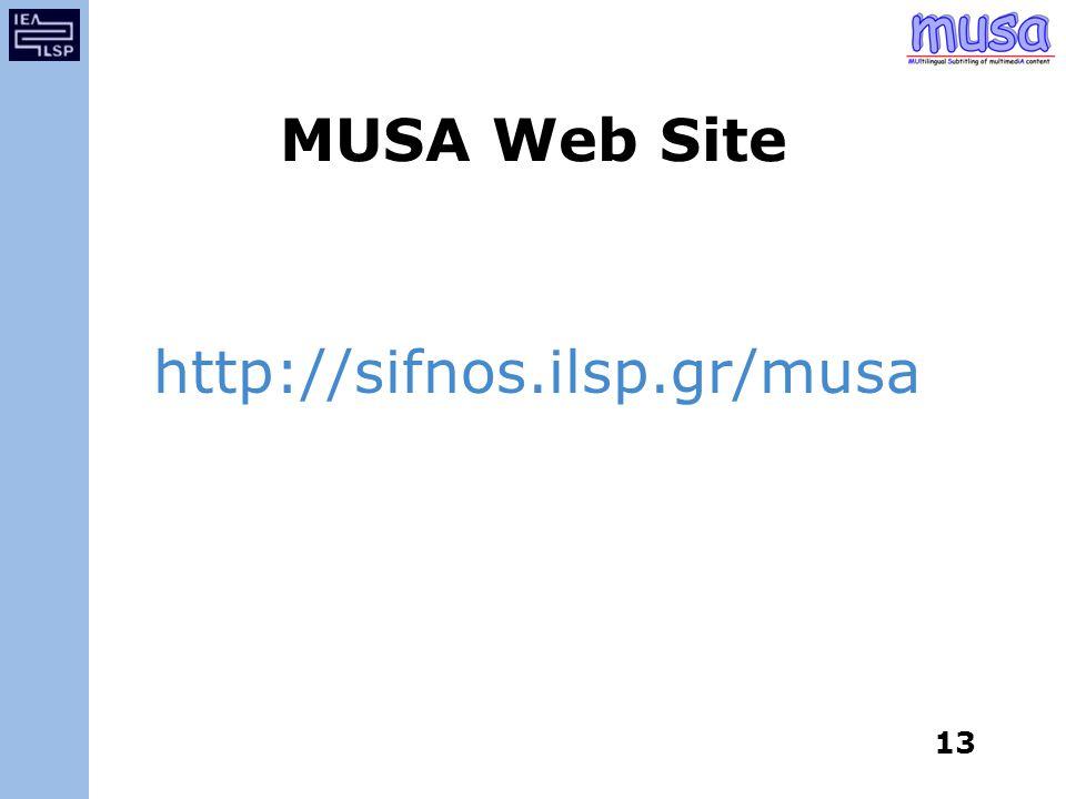 MUSA Web Site http://sifnos.ilsp.gr/musa