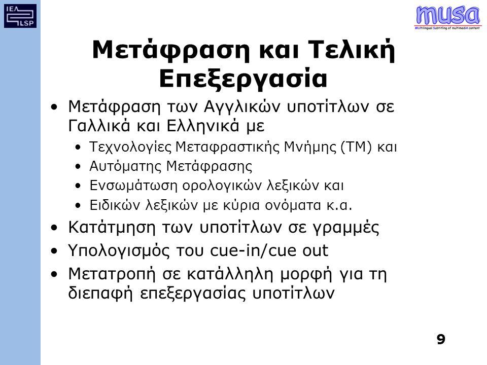 Μετάφραση και Τελική Επεξεργασία