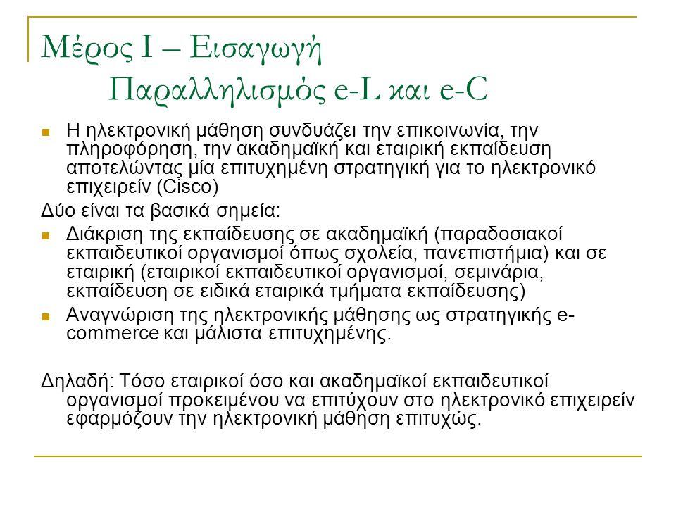Μέρος Ι – Εισαγωγή Παραλληλισμός e-L και e-C