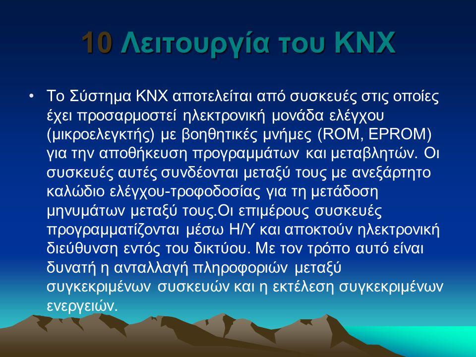 10 Λειτουργία του ΚΝΧ