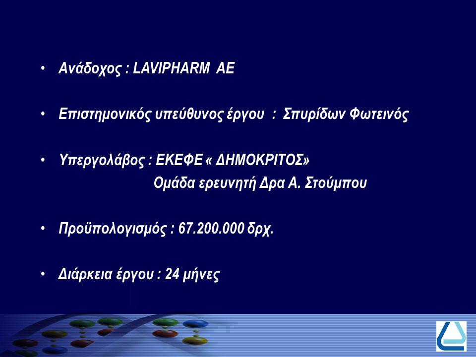Ανάδοχος : LAVIPHARM AE