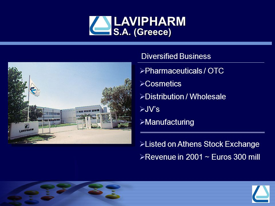 LAVIPHARM S.A. (Greece) Diversified Business Pharmaceuticals / OTC